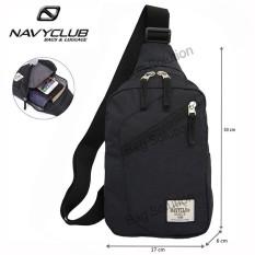 Navy Club Tas Selempang Travel - Tas Punggung Tahan Air - Sling Bag Tas Pria Tas Wanita 5032 - Hitam