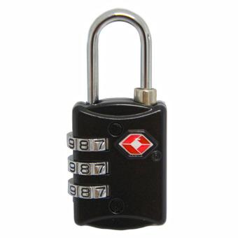 BGC Travel Bag Kanvas Mickey Mouse Gembok Set Kunci 20mm Black Source Navy Club TSA