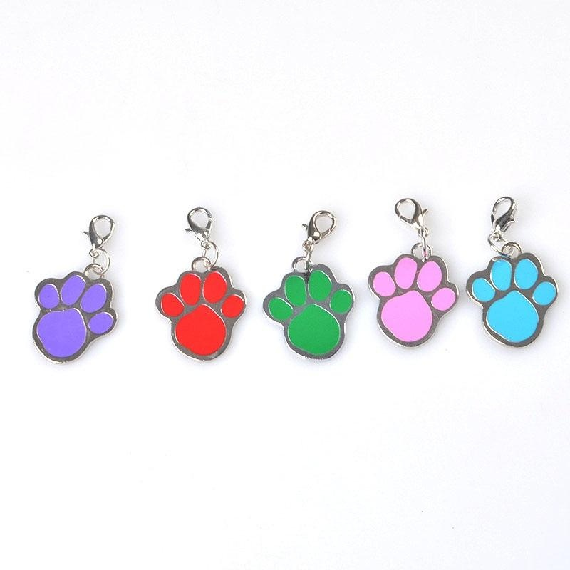 Necklace Pendant Metal 1 PcDog Collar Tag Pet ID Accessories Pedant Pawprint - intl