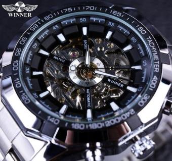 New Number Sport Design Bezel Golden Watch Mens Watches Top Brand Luxury Montre Homme Clock Men Automatic Skeleton Watch - intl