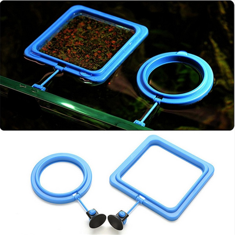 Newest Aquarium Fish Tank Circle Ring Feeder Floating Food FeedingStation-Round - intl