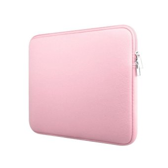 niceEshop Protective 14 Inch Neoprene Laptop Computer Sleeve Case Portable Slim Macbook Tablet Ultrabook Notebook Carrying Padded Bag For Apple/Dell/HP/Lenovo/Asus(Pink) - intl