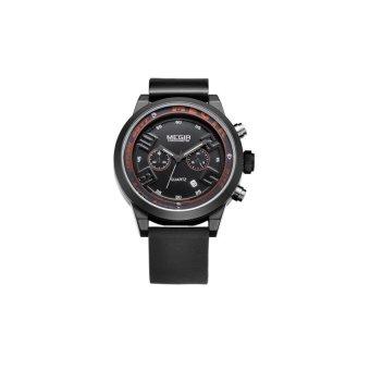 Niudun MEGIR sports personality waterproof watch fashion movementquartz watch men watch male watch Switzerland 2001 (black) - intl