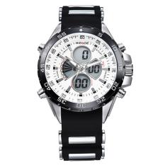 OBN Men Swiss Tahan Air Watches Multi-Fungsional Militer Table Outdoor Climbing Sports pria Silicone Band Watch WH1103 -Permukaan putih-Intl