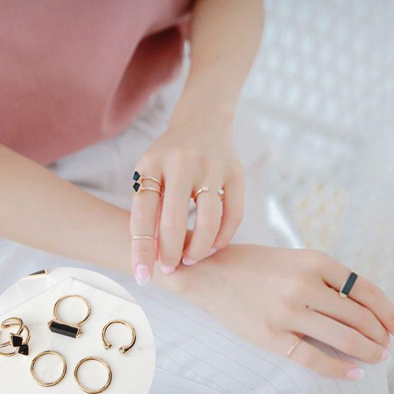 Orang Trendi Jepang Dan Korea Selatan Berlebihan Perempuan Sendi Cincin Kelingking Cincin
