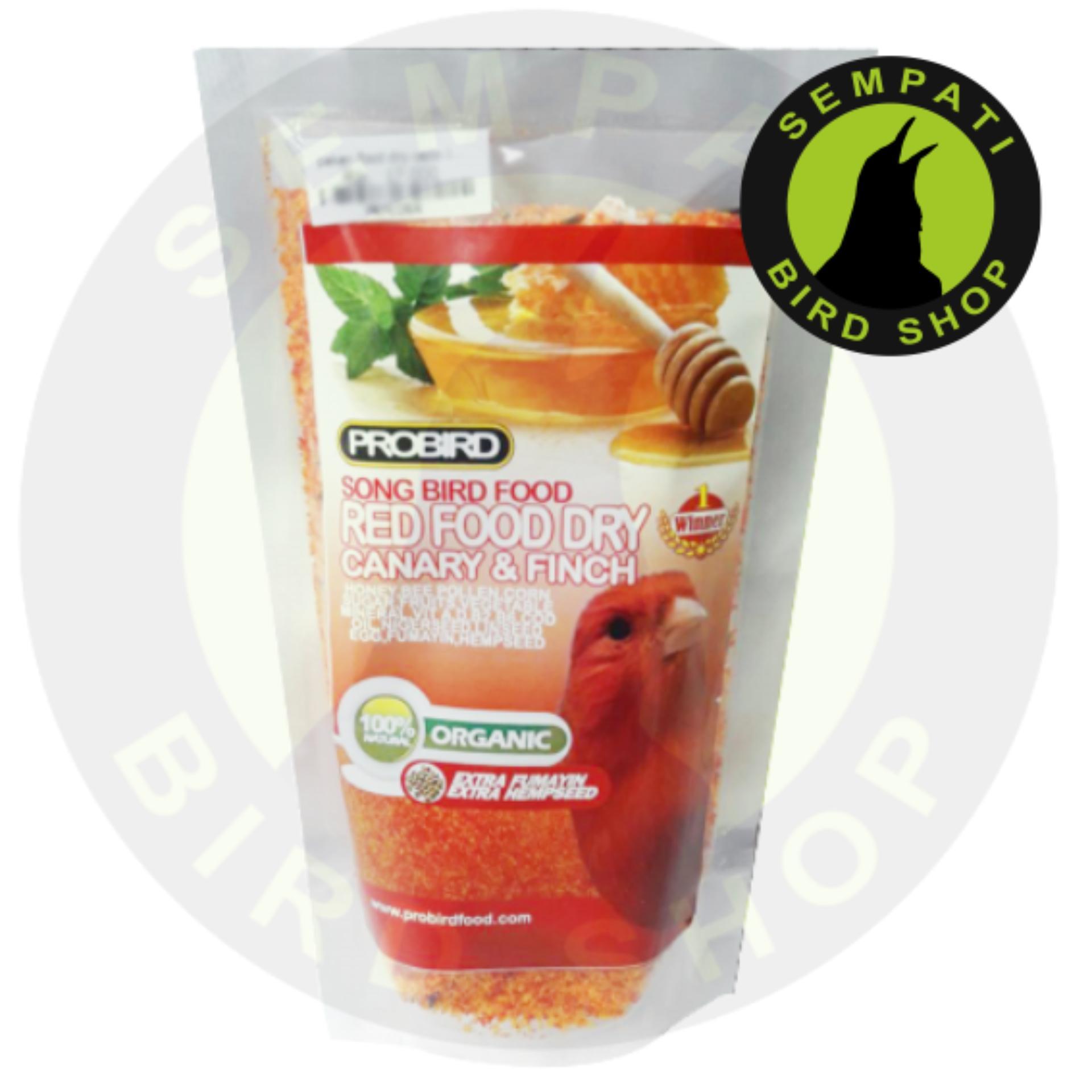 Pakan Burung Kenari Finch Red Dry Food Cede Probird