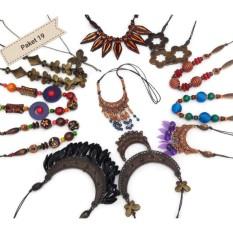 Paket Kalung Kayu Asli dari Perajin Yogykarta isi 12 buah Kalung