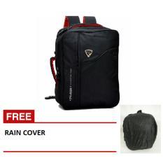 Palazzo Tas 3in1 (Ransel, Selempang,Jinjing) 34685 + Raincoat jas hujan- Hitam
