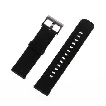 harga Penggantian kulit asli tali pengikat pergelangan tangan gelang jamuntuk MOTO 360 2nd Men ' s42mm cerdas perhiasan di Hitam Lazada.co.id