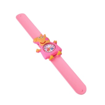 Peppa Pig Silicone Belt Slap Strap Lovely Gift Catoon Movie Character Boys - intl