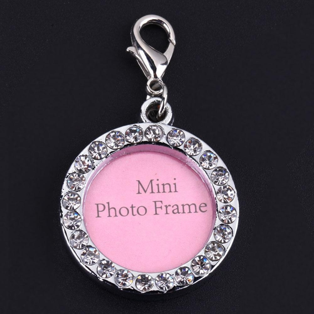 Pet Dog Round Shaped Alloy Name Card Anti Lost Dog ID Address Name Label - intl
