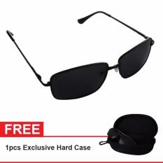 Polarized Sunglasses UV 400 HD Night 007 Free Exclusive Hard Case - Kacamata Pria & Wanita
