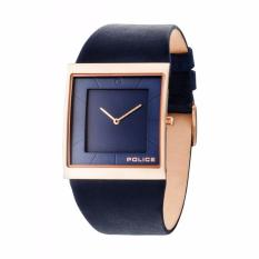 POLICE PL.14694MSR/03A - Skyline - Jam Tangan Pria - Bahan Tali Leather - Dark Blue