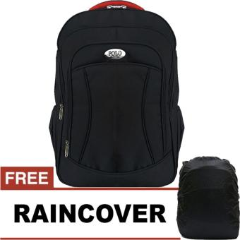 Polo Black Eduard Laptop Raincover Backpack / Tas Ransel LaptopPria