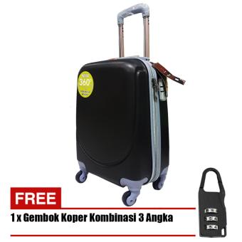 Polo Hoby Koper Hardcase Luggage 24 Inchi 705-24 Anti Theft - Black + Free