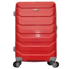 Polo Team Tas Koper Kabin Hardcase 4 Roda Putar Size 20 inch 8705- Merah