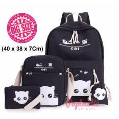 POPS Tas Ransel anak paket 4in1 - Tas sekolah Multifungsi Cats (40x38x17Cm)