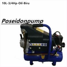 Poseidon Mesin Kompresor Udara Listrik 3/4HP-10liter Air Compressor Oil - Biru