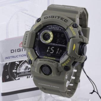 PROMO Digitec DG-2064T AQUAMAN Original - Anti Air - Jam Tangan Pria Sporty - Rubber Strap - Hijau Original
