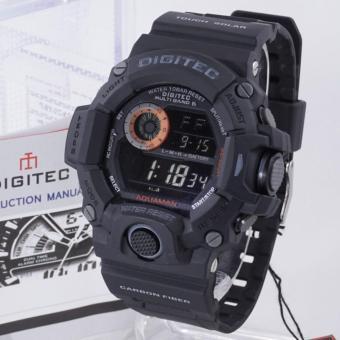 PROMO Digitec DG-2064T AQUAMAN Original - Anti Air - Jam Tangan Pria Sporty - Rubber Strap - Hitam Orange