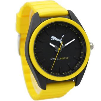 Puma PU911241007 Jam Tangan Pria Rubber Strap Kuning Hitam