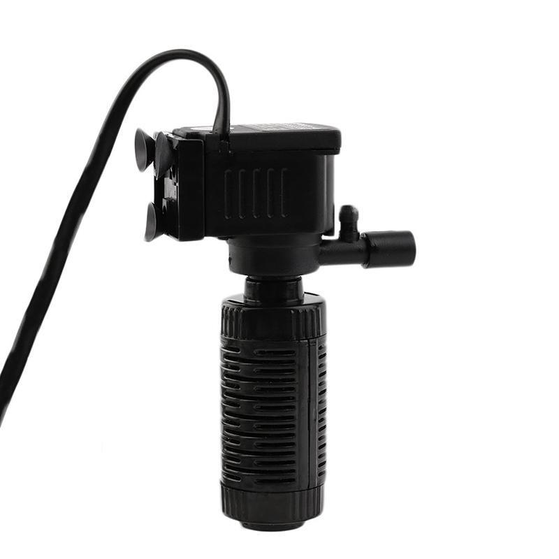 Pump Submersible Aquarium Filter Tank Fish Internal Water 3 in 1Mini Spray -
