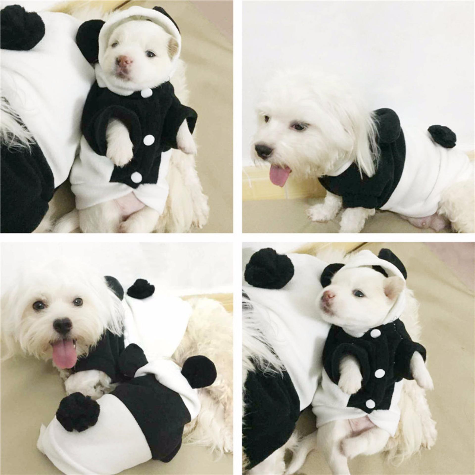 Puppy Pet Kostum / Baju Anjing Motif Panda (Model A) -