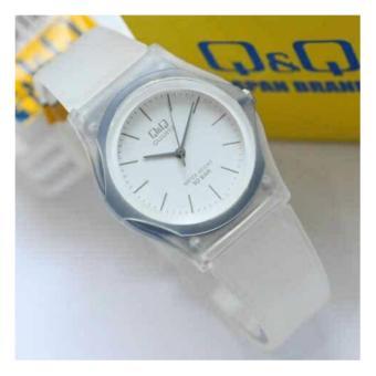 Q&Q Watch - Jam Tangan Wanita - Rubber Strap - Transparan Design - QQ28832DH
