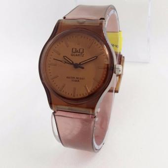 Q&Q Watch - Jam Tangan Wanita - Rubber Strap - Transparan Design - VQ86J029