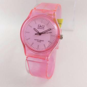 Q&Q Watch - Jam Tangan Wanita - Rubber Strap - Transparan Design - VQ86J031