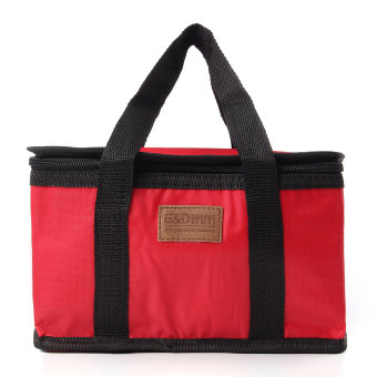 Qiaosha Waterproof Thermal Cooler Insulated Lunch Box StoragePicnic Large Bag Foldable Red - Intl