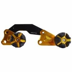 RajaMotor Pelindung Knalpot Yamaha NMax CNC - Gold/Hitam