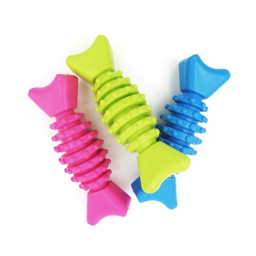 Random Gums Chew Toy For Pet Thorn Bone TPR Rubber Healthy TeethCleaning Tool - intl