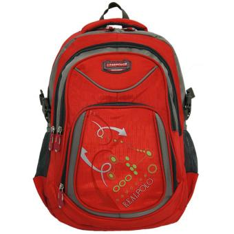 Real Polo Tas Ransel Kasual 6324 Backpack Daypack - Merah
