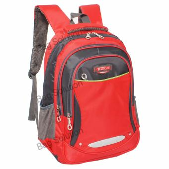 Real Polo Tas Ransel Kasual 6372 Backpack Daypack - Merah