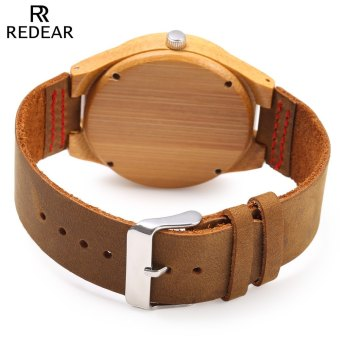 REDEAR SJ1448 - 5 Female Wooden Quartz Watch Leather Strap Special Pattern Dial .