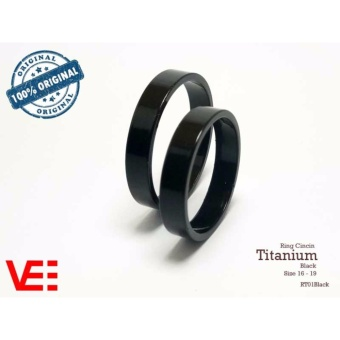 Ring Cincin Couple Tunangan Nikah Pasangan Single Titanium Black