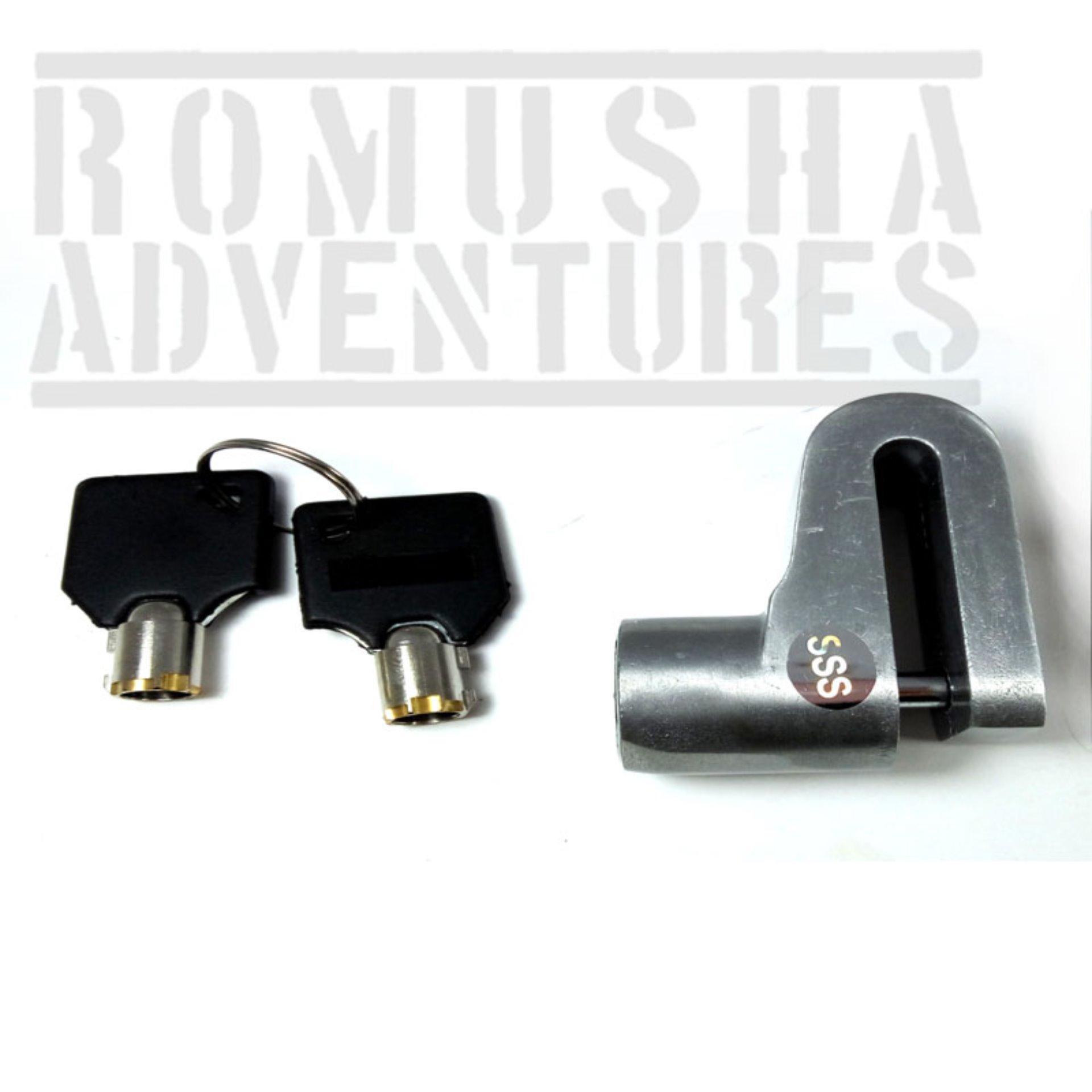 Harga Terendah Romusha Disc Brake Lock Kunci Gembok Cakram Motor Triangle Tdr