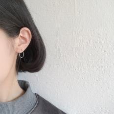 S925 Jepang dan Korea Selatan style ear hook kepribadian anting-anting sterling anting perak anting