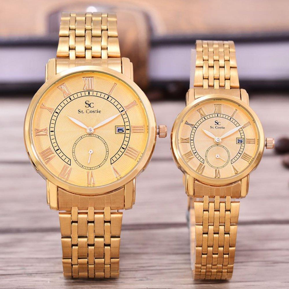 ... Saint Costie Original Brand, Jam Tangan Pria & Wanita - Body Gold - Gold Dial ...