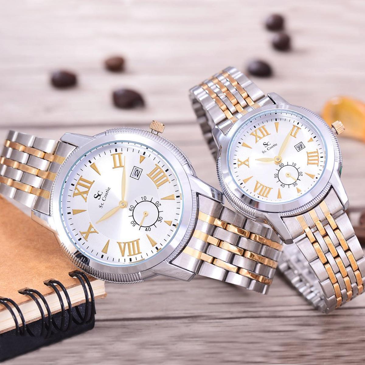 Saint Costie Original Brand, Jam Tangan Pria & Wanita - Body Silver .