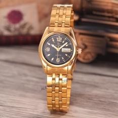 Saint Costie Original Brand-Jam Tangan Wanita-Body gold-black dial-Stainless