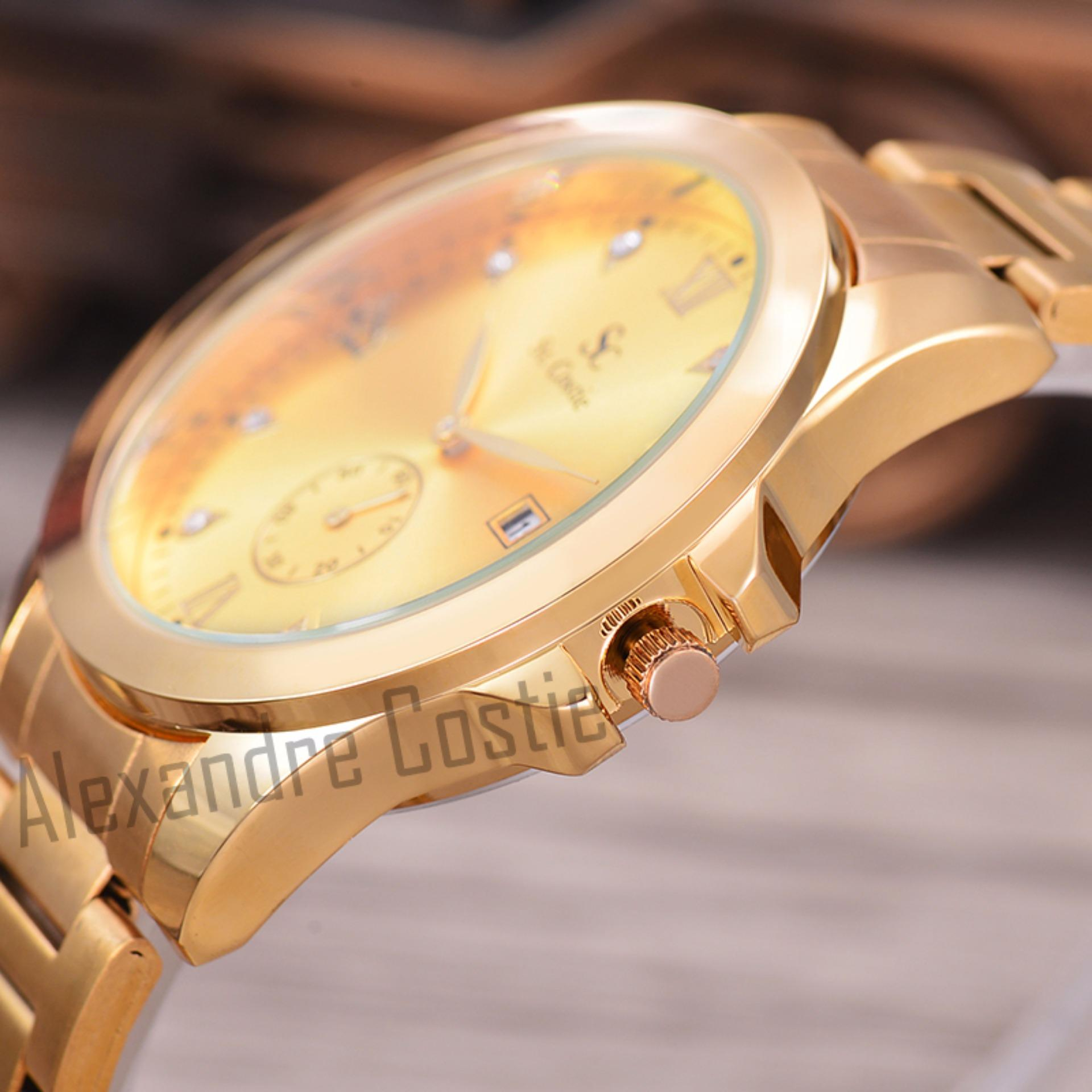 ... Stainless Steel Band Body Silver Gold White Dial Jam Tangan Couple -. Source · Saint Costie Original Brand, Jam Tangan Wanita - Body Gold - Gold .