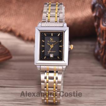Saint Costie Original Brand, Jam Tangan Wanita - Body Silver/Gold - Black Dial