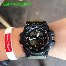 SANDA merek Watch 759 Mens Watches Top mewah G gaya Waterproofolahraga Watches Shock Digital elektronik pergelangan