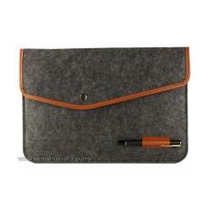 Sarung Laptop Sleeve Case Tas Laptop Softcase Laptop ( HF Sleeve Case Woolen Felt ada tempat Pulpen ) - Layar 13.3 inci