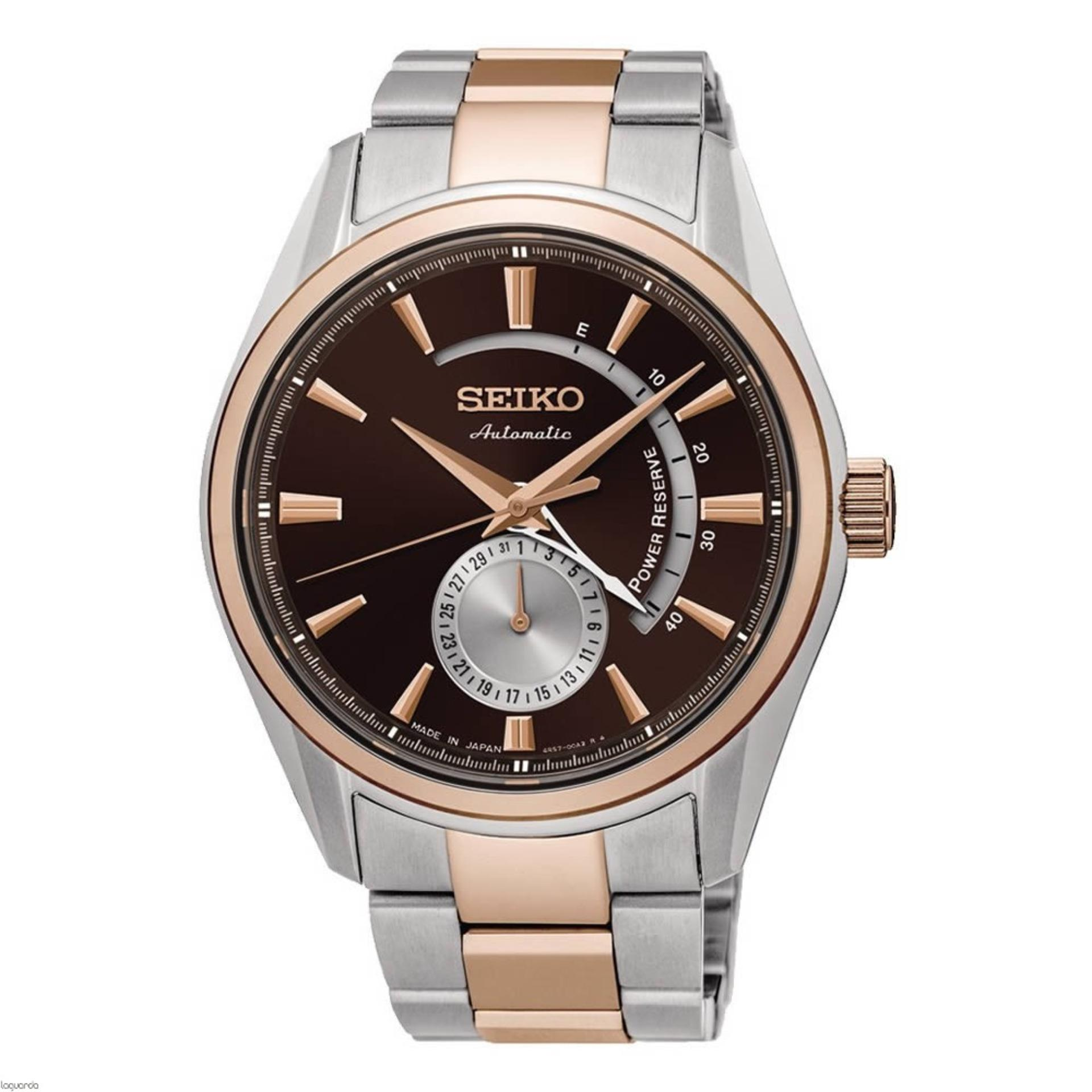 Seiko 5 Automatic Jam Tangan Pria Gold Stainless Steel 26nkns5 Christ Verra 72025g 13 Silver Sport Presage Strap Stell