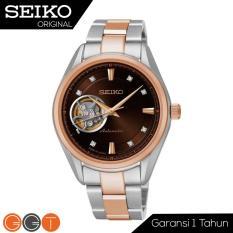 Seiko 5 Sport Automatic Presage - Jam Tangan Wanita - Strap Stainless Stell - SSA864J1  - Black Rose Gold