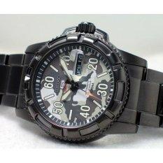 Seiko 5 Sport SRP225K1 Automatic Black IP Bracelet - Jam Tangan Pria SRP225
