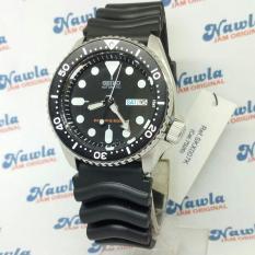 Seiko Skx007K1 Divers 200m Black DIal Rubber - Jam Tangan Pria SKX007